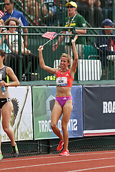 Olympic Trials Eugene 2012: women's 1500 meters final, Morgan Uceny victory lap