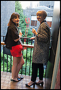 BELINDA BOWRING; HANNAH WILSON, Drinks party to launch this year's Frieze Masters.Hosted by Charles Saumarez Smith and Victoria Siddall<br />  Academicians' room - The Keepers House. Royal Academy. Piccadilly. London. 3 July 2014