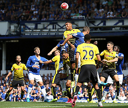Watford's Troy Deeney clears the ball - Mandatory byline: Matt McNulty/JMP - 07966386802 - 08/08/2015 - FOOTBALL - Goodison Park -Liverpool,England - Everton v Watford - Barclays Premier League