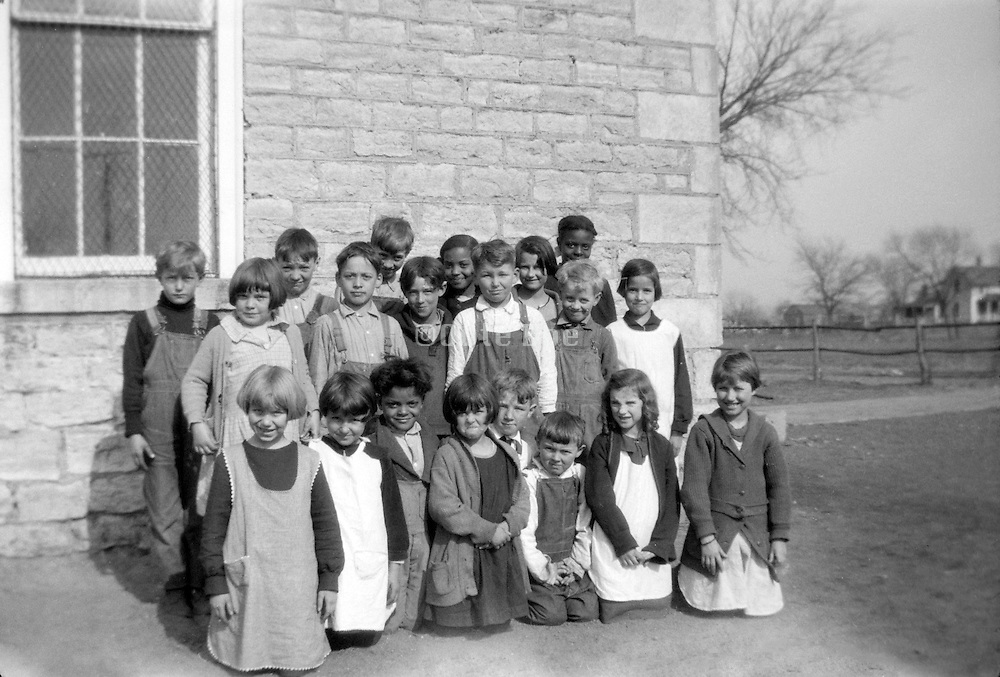 1920s USA ethnicity mixed rural elementary school class