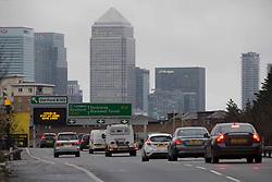 """© Licensed to London News Pictures.20/01/2021, London,UK. A general view on the A12 in east London as the Department for Transport (DfT) plans to charge motorists for minor traffic violations which could result in automatic fines of £70. Civil penalties will be handed by nearly 300 local authorities outside London, instead of being imposed by the police. According to the DfT, the process will take """"several months to bring into force"""". Photo credit: Marcin Nowak/LNP"""