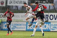 FOOTBALL - FRENCH CHAMPIONSHIP 2011/2012 - CLERMONT FOOT v CS SEDAN  - 4/05/2015 - PHOTO EDDY LEMAISTRE / DPPI - YOANN COURT (SEDAN) AND GUILLAUME MOULLEC  (CFA)