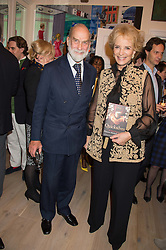 TRH PRINCE & PRINCESS MICHAEL OF KENT at a reception to celebrate the publication of Quicksilver by HRH Princess Michael of Kent held at the home of Richard & Basia Briggs, 35 Sloane Gardens, London on 9th November 2015.