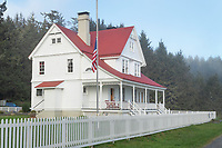 Heceta Head lighthouse keepers residence, now a vacation rental B&B, Oregon