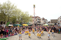 © Licensed to London News Pictures. 05/05/2014. Wells, Somerset. Maypole dancing at Wells may fair. Photo credit : Jason Bryant/LNP