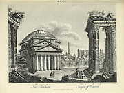 The Pantheon and Temple of Concord Copperplate engraving From the Encyclopaedia Londinensis or, Universal dictionary of arts, sciences, and literature; Volume XXII;  Edited by Wilkes, John. Published in London in 1827