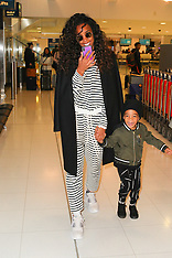 Kelly Rowland and son seen after winning the Voice Australia - 18 June 2018