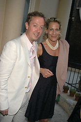 GEORDIE GRIEG and LEONIE FRIEDA at the Tatler Summer Party in association with Moschino at Home House, 20 Portman Square, London W1 on 29th June 2005.<br />