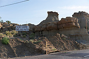 Signs encouraging social distancing can be seen on many roads around the Navajo Nation.