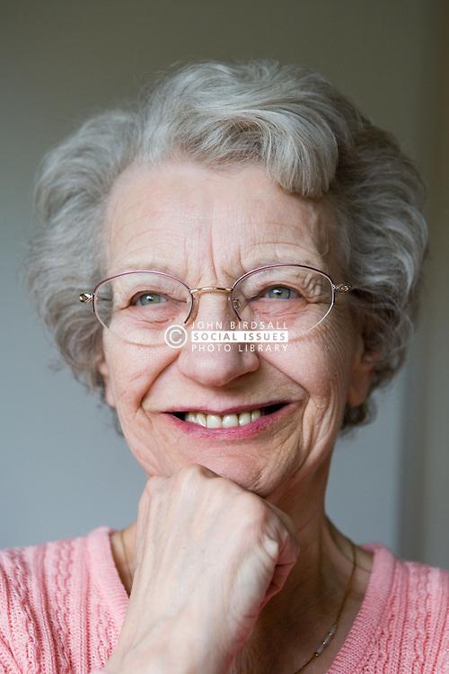 Portrait of a older woman smiling,