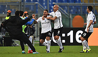 Esultanza Gol German Denis Atalanta Goal celebration <br /> Roma 29-11-2015 Stadio Olimpico Football Calcio 2015/2016 Serie A AS Roma - Atalanta Foto Andrea Staccioli / Insidefoto