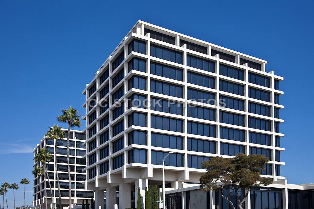 Business Buildings on Newport Center Drive in Fashion Island of Newport Beach California