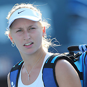 Daria Gavrilova, Russia, during the first round of the Connecticut Open at the Connecticut Tennis Center at Yale, New Haven, Connecticut, USA. 24th August 2015. Photo Tim Clayton