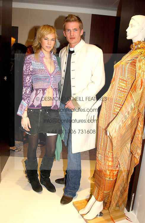 JACOBI ANSTRUTHER-GOUGH-CALTHORPE and MISS ALICE RUGGE PRICE  at the UK launch of Tarun Tahiliani Design in association with the British Luxury Council held at The Knightsbridge, London SW7 on 10th March 2005.<br /><br />NON EXCLUSIVE - WORLD RIGHTS