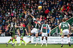 Ellis Harrison of Bristol Rovers challenges for the header with Zak Vyner of Plymouth Argyle - Mandatory by-line: Dougie Allward/JMP - 17/03/2018 - FOOTBALL - Home Park - Plymouth, England - Plymouth Argyle v Bristol Rovers - Sky Bet League One