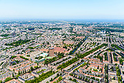 Nederland, Noord-Holland, Amsterdam, 29-06-2018; Amsterdam-Zuid, Nieuwe Pijp met onder andere Okura Hotel, Ferdinand Bolstraat, Amstelkanaal, Amstelkade.. Sarphatipark.<br /> Southern part of Amsterdam.<br /> <br /> luchtfoto (toeslag op standard tarieven);<br /> aerial photo (additional fee required);<br /> copyright foto/photo Siebe Swart
