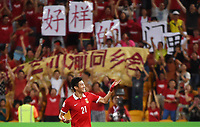 Fotball<br /> Asian Cup / Asiamesterskapet<br /> 10.01.2015<br /> Kina v Saudi Arabia<br /> Foto: imago/Digitalsport<br /> NORWAY ONLY<br /> <br /> Yu Hai of China celebrates his goal during a Group B match against Saudi Arabia at the AFC Asian Cup in Brisbane, Australia, Jan. 10, 2015. China won 1-0.