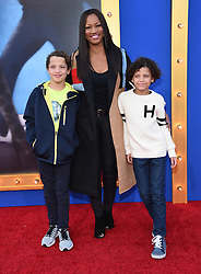 December 3, 2016 - Los Angeles, California, U.S. - Garcelle Beauvais, Jaid Nilon and Jax Nilon arrives for the premiere of the film 'Sing' at the Microsoft Theatre. (Credit Image: © Lisa O'Connor via ZUMA Wire)