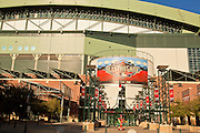 14 JUNE 2011 - PHOENIX, AZ: Chase Field, formerly Bank One Ballpark, home of the Arizona Diamondbacks, in Phoenix, AZ. Chase Field is the site of the 2011 Major League Baseball All Star Game. The All Star Game is on July 12, 2011. The stadium seats about 49,000. The first game was played in what was then Bank One Ballpark in 1998. It is the first major league baseball stadium with a retractable roof.   Photo by Jack Kurtz
