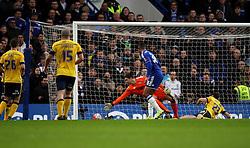 Ruben Loftus-Cheek of Chelsea scores his sides second goal against Scunthorpe United - Mandatory byline: Robbie Stephenson/JMP - 10/01/2016 - FOOTBALL - Stamford Bridge - London, England - Chelsea v Scunthrope United - FA Cup Third Round