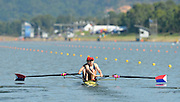 Sydney, Australia. Team USA, Women's pair USA W2-. Sara HENDERSHOT and Taylor RITZEL, move away from the start  in the Women's Open pair, Sydney International Rowing Regatta. Sydney International Rowing Centre, Penrith Lakes, NSW.   Thursday   21/03/2013 [Mandatory Credit. Peter Spurrier/Intersport Images]..
