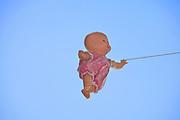 doll walking on air
