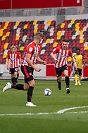 Brentford Forward Sergi Canos (#7) on the ball during the EFL Sky Bet Championship match between Brentford and Watford at Brentford Community Stadium, Brentford, England on 1 May 2021.
