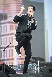 Bastille lead vocalist Dan Smith performs during a collaboration with Mura Masa during the second day of BBC Radio 1's Big Weekend at Burton Constable Hall, Burton Constable, Skirlaugh in Hull.