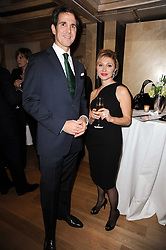CROWN PRINCE PAVLOS OF GREECE and SILVIA DAMIANI at a dinner hosted by jewellers Damiani at The Connaught Hotel, London on 3rd February 2010.