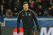 Paris Saint-Germain Zlatan Ibrahimović (vice captain) during the Champions League match between Paris Saint-Germain and Chelsea at Parc des Princes, Paris, France on 17 February 2015. Photo by Phil Duncan.