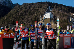 Chauvin Valentin, Jouve Richard, Jay Renaud and Gros Baptiste of France during 6 x 1.2 km Team Sprint Free race at FIS Cross Country World Cup Planica 2016, on January 17, 2016 at Planica, Slovenia. Photo By Grega Valancic / Sportida