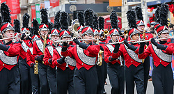 © Licensed to London News Pictures. 01/01/2019. London, UK. Marching Band take part in the annual New Year's Day Parade in London. Over half a million spectators line the 2.2 mile route from Piccadilly Circus to Parliament Square as more than 8,000 performers from 26 countries participates in 33rd London's New Year's Day Parade. Photo credit: Dinendra Haria/LNP