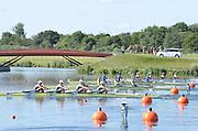 Eton Dorney, Windsor, Great Britain,..2012 London Olympic Regatta, Dorney Lake. Eton Rowing Centre, Berkshire[ Rowing]...Description;  GBR W4X Race start GBR W4X.   10:00:04  Saturday  28/07/2012.[Mandatory Credit: Peter Spurrier/Intersport Images].