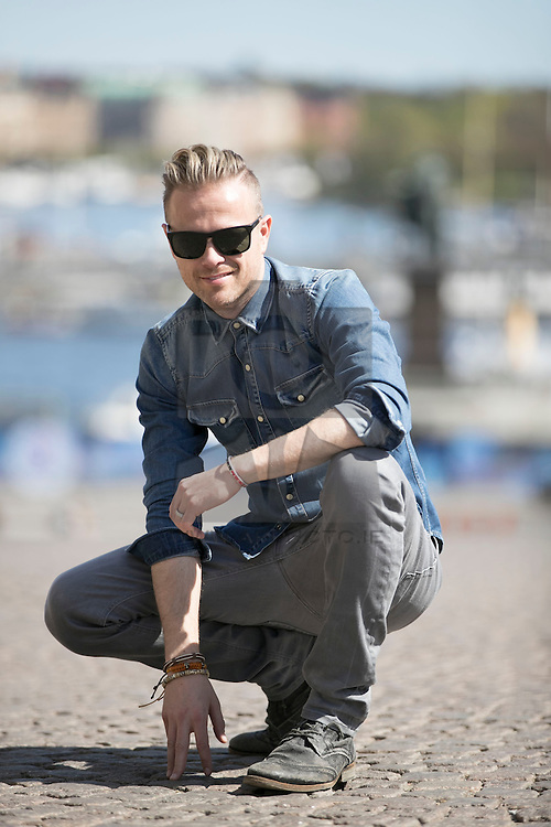 REPRO FREE: 08/05/2016 Nicky Byrne pictured sightseeing in Stockholm Sweden the Eurovision City. PICTURE ANDRES POVEDA RTÉ