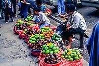 Riau Islands, Bintan. Selling fruit in Tanjung Pinang (TP).