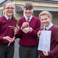 Sarah McAnespie, Lucy Power and Lucy Hehir with their Jessies idea recycled accssories