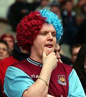 Photo. Javier Garcia<br />02/02/2003 West Ham v Liverpool, FA Barclaycard Premiership, Upton Park<br />Unhappy Hammer