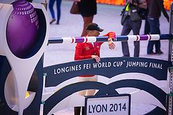 Schwizer Pius (SUI)<br /> Longines FEI World Cup™ Jumping Final 2013/2014<br /> Lyon 2014<br /> © Dirk Caremans