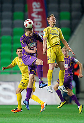 Jovan Vidovic of Maribor vs Damir Pekic of Domzale during football match between NK Domzale and NK Maribor in final match of Hervis Cup, on May 25, 2011 in SRC Stozice, Ljubljana, Slovenia. Domzale defeated Maribor and became Slovenian Cup Champion 2011. (Photo By Vid Ponikvar / Sportida.com)