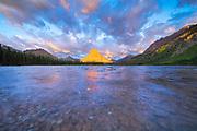 Two Medicine, Glacier, Mountains, Sunrise, Lake