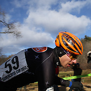 Kerry Werner in action during the Cyclo-Cross, Supercross Cup 2013 UCI Weekend at the Anthony Wayne Recreation Area, Stony Point, New York. USA. 24th November 2013. Photo Tim Clayton