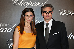 Livia Firth and her husband Colin Firth attending Chopard Trophy during the 70th Annual Cannes Film Festival in Cannes, southern France on May 22, 2017. Photo by Balkis press