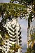High rise apartments at South Pointe Perk South Beach Miami