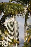 High rise apartments at South Pointe Perk South Beach Miami