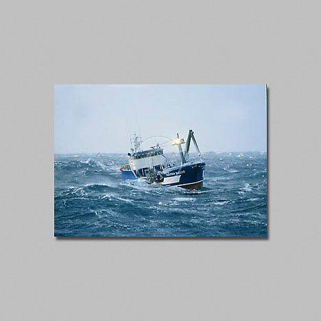 Alaska, Bering Sea, Crab Fishing vessel Aleutian Ballad.