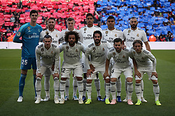 October 28, 2018 - Barcelona, Catalonia, Spain - Real Madrid team during the match between FC Barcelona and Real Madrid CF, corresponding to the week 10 of the Liga Santander, played at the Camp Nou, on 28th October 2018, in Barcelona, Spain. (Credit Image: © Joan Valls/NurPhoto via ZUMA Press)