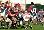 Gloucester, Gloucestershire, UK., 11th October 2003,  Kingsholm Stadium, Zurich Premiership Rugby, [Mandatory Credit: Peter Spurrier/Intersport Images],<br /> <br /> 11/10/2003 - Photo  Peter Spurrier<br /> 2003/04 Zurich Premiership Rugby: Gloucester v Leicester <br /> Jake Boer with the ball