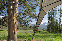 Campsite shelter, Sawtooth Mountains Idaho
