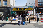 Liberty Market In Dublin on 07th April 2017 in Dublin, Republic of Ireland. Situated in the Liberties, The Liberty Market is one of Dublins longest running Markets.