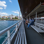 Seabus or ferry in Istanbul between Karakoy, Eminonu and Uskudar districts